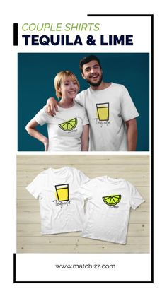 Tequila and Lime Couple Shirts Matching outfit Gift Matching Couple Gifts, Matching Couples, Matching Shirts, Matching Outfits, Single Rib, 30 And Single, Valentines Day Party, Valentine Gifts, Christams Gifts