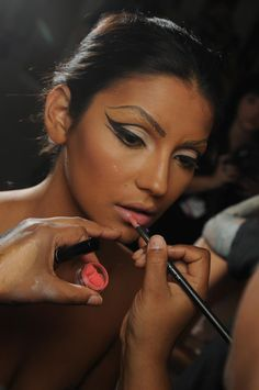mac for the blonds at s/s 2012 new york fashion week.