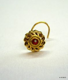 18k traditional design gold nose stud nosepin rajasthan india NOSE RING OF MY DREAMS