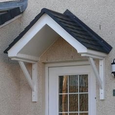Door Canopy - Sherbourne - The Sherbourne duo pitched style of canopy is one of our favourite canopies and will enhance any entrance door. & Palram Door Cover Canopy Aquila 2050 Clear | Canopy Tesco direct ...