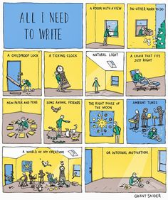 What I (don't) need to write...