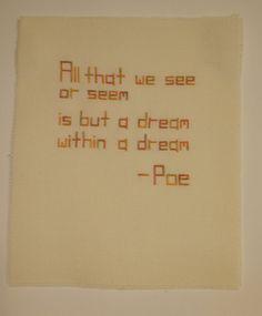 Edgar Allan Poe quote Cross stitch
