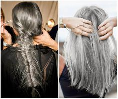 White hair, chic adicta, tendencias moda 2014 2015, grey hair, cabello gris, fashionista, street style, Piensa en Chic www.PiensaenChic.com