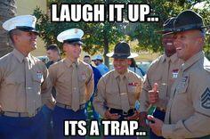 Looks like my senior drill instructor Marine Corps Memes, Us Marine Corps, Military Jokes, Military Police, Army, Once A Marine, Marine Mom, Usmc Humor, Drill Instructor
