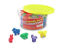Learning Resources Friendly Farm Animal Counters (Set of These colourful counters are a great way to liven up maths activities. Ideal for developing counting skills, sorting and patterning, these rubber counters are wipe clean - perfect for hands-on Home Learning, Learning Resources, Fun Learning, Preschool Science Activities, Counting Activities, Steam Activities, Preschool Lessons, Preschool Learning, Toddler Activities