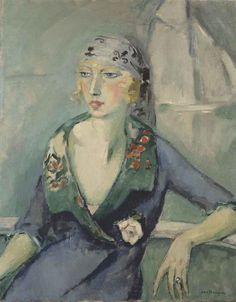 Kees van Dongen「La femme au foulard」