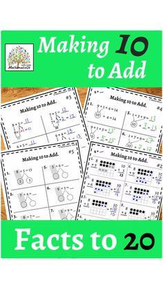 Fun Math, Math Games, Math Activities, Addition And Subtraction Practice, Math Addition, Primary Maths, Elementary Math, Teaching Math, Math Centers