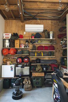 Garage Design, House Design, Diy Household Tips, Camping Store, Garage Interior, Room Setup, Tiny House Living, Storage Spaces, Storage Room