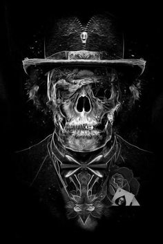 Illustration by Obery Nicolas Arte Cholo, Baron Samedi, Horror, Totenkopf Tattoos, Skeleton Art, Skull Tattoos, Biker Tattoos, Art Tattoos, Grim Reaper
