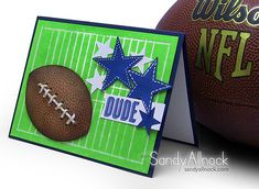 Superbowl Football card with video tutorial...Go Seahawks! #louder #SB48