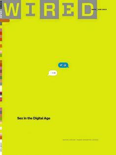 Первый в истории номер Wired, посвящённый сексу. Обложка — «секс в цифровую эпоху».
