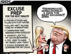 A roundup of funny and provocative cartoons about Donald Trump and his presidential campaign.: Trump Excuses