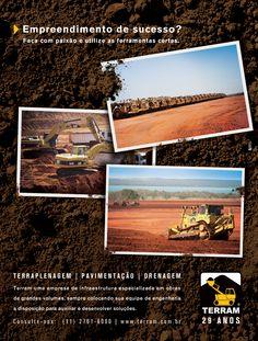 Anúncio para a Terram que está veiculando na Exame e na Revista Valor Setorial Infraestrutura.