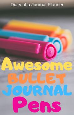 The best pens to use in your bullet journal that are sure not to bleed through pages! Find awesome pens for hand lettering and calligraphy here. #bulletjournalsupplies #pens #bujo #bulletjournalpens #calligraphy #bulletjournaling Best Bullet Journal Pens, Bullet Journal For Beginners, Bullet Journal How To Start A, Bullet Journal Layout, Bullet Journal Inspiration, Bullet Journals, Planner Pages, Printable Planner, Life Planner