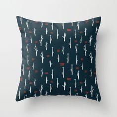 cold flora 3 - Throw Pillow