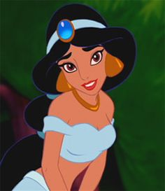 Jasmine cartoon | Princess Jasmine in 'Aladdin'