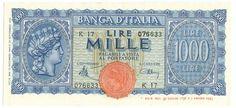 1000 LIRE - 1944 - Italia Turrita - non emesso - #scripomarket #scripobanknotes #scripofilia #scripophily #finanza #finance #collezionismo #collectibles #arte #art #scripoart #scripoarte #borsa #stock #azioni #bonds #obbligazioni