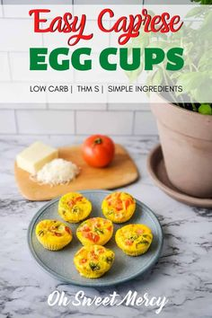 Simple, fresh, caprese flavors make these Easy Caprese Egg Cups the perfect low carb breakfast. Just as delish at any other time of day and even great cold. Perfect for snacks, prep ahead breakfasts, and grab and go. Low Carb Breakfast Easy, Best Breakfast, Healthy Carbs, Healthy Eating, Clean Eating, Baked Egg Cups, Low Carb Recipes, Healthy Recipes, Low Carb Side Dishes