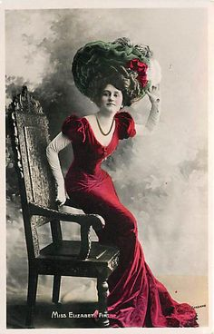 MISS ELIZABETH FIRTH-TINTED PHOTO-COSTUME-EARLY-T40025 - bidStart (item 18097436 in Postcards... Other / Unsorted)