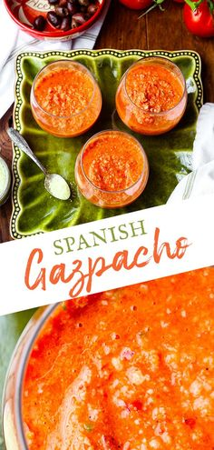 A blend of the freshest summer bounty. Whether you find everything in your garden or at your local grocery, this refreshing Spanish Gazpacho soup comes together in about 10 minutes. I love this is a low calorie snack or lunch but also an elevated appetizer for summer entertaining. #tapas #coldsoup #gazpacho #gazpachorecipe #gaspachorecipe #gaspacho #summersouprecipes #summersoup