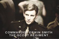 Chris evans as erwin smith? Thats amazing and he looks exactly like him! I approve!
