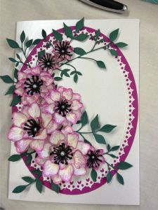 made with Heartfelt Creations Arianna Blooms die