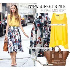 NYFW -Floral Midi Skirt