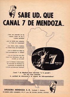Publicidad CANAL 7, Mendoza, 1963.