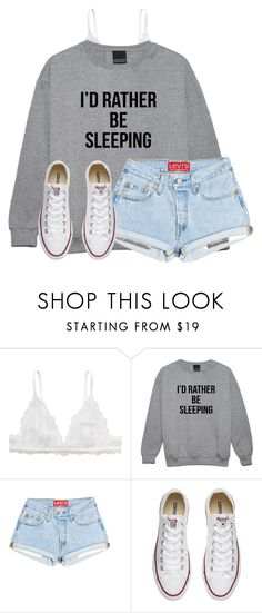 """Literally everyone on monday"" by victoriaann34 on Polyvore featuring Monki and Converse"