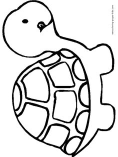 Turtle coloring pages, color plate, coloring sheet,printable coloring picture