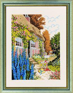 (OP=OP) Huis met bloemen (house in flowergarden)