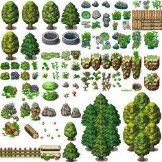 Resultado de imagem para rpg maker tilesets grass