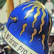 Medieval Helmets, Medieval Armor, Medieval Fantasy, Larp, Helmet Paint, Mask Painting, Landsknecht, Wars Of The Roses, Early Middle Ages