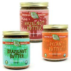 Brazil Nut, Hazelnut, Pecan Butter Bundle, sprouted - BTR (8 oz)