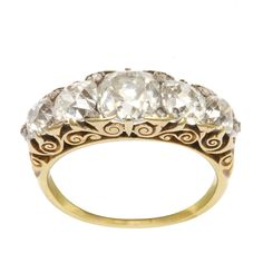 Victorian Half-hoop Diamond Ring