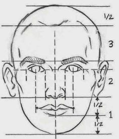 Image result for draw faces with vertical and horizontal lines