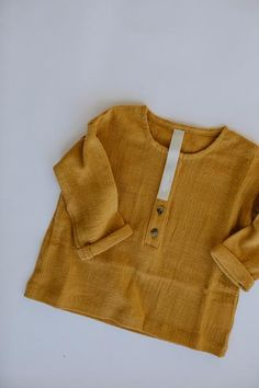 the daily top - golden Little Ones, Kids Fashion, Pullover, Sweaters, Baby Baby, Collection, Tops, Button, Style