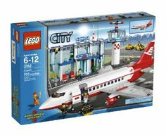 LEGO® City Airport 3182 by LEGO. $117.29. Features revolving door, baggage claim area, VIP lounge, café, soda machine, check-in area with x-ray machine. Set includes airplane, terminal, control tower, baggage cart, crew, passengers, arrival and departure signs, and control tower. Includes 5 mini figures: passengers, pilot, flight attendant, steward and service man. Contains 703 LEGO pieces. Everyone's on the go at the big LEGO City Airport. From the Manufacturer   ...