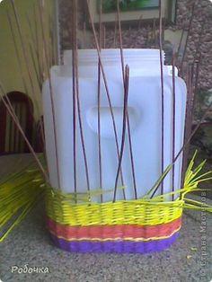 Поделка изделие Плетение Новый дом для пальмы Бумага газетная фото 2