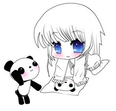Pics For &gt- Panda Chibi Girl | Chibi girl | Pinterest | Chibi ...