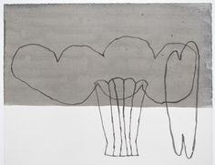 Jürgen Partenheimer Das Schattenreich ist das Paradies der Phantasien (Kant) R8 (21.8.09)  2009 Bleistift, Aquarell auf Papier 31,1 x 36 cm