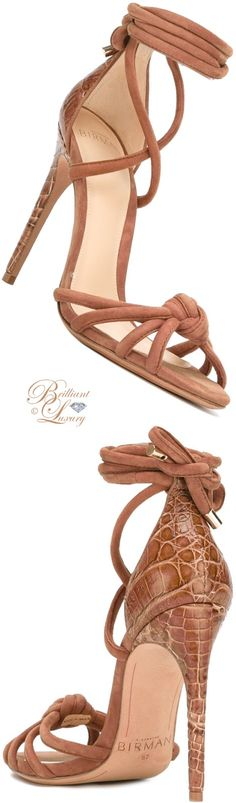 Brilliant Luxury by Emmy DE ♦ Alexandre Birman Lanna Ankle-Wrap Sandals