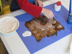 Hot chocolate party with chocolate playdough, painting with marshmallows etc.  Great idea!