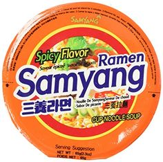 Spicy Flavor Roasted Cup Noodles Soup x 6 Cups Spicy Flavor Cup Ramyun Korean Noodle Ramen *** ON SALE Check it Out