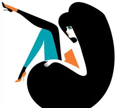 Hoo Doo That Voo Doo : Malika Favre illustration Flat Illustration, Graphic Design Illustration, Graphic Art, Portrait Illustration, Art Illustrations, Malika Fabre, Pop Art, Arte Fashion, Mod Fashion