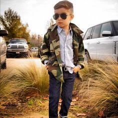 Vintage camo jacket | Alonso Mateo, The 5-Year-Old Boy Who's Become an Instagram Style Icon - The Cut