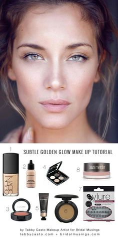 Subtle Golden Glow Make-Up Tutorial – Perfect For Natural Wedding Make-Up Look