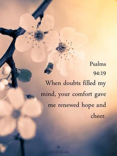 when doubts fill my mind...