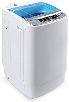 Amazon.com: DELLA Portable 3.5KG Compact Fully 7.7lbs Top Load Automatic Mini Washing Laundry Machine Spin Wash W/Drain Pump, White: Appliances