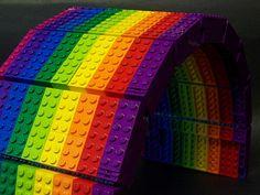Rainbow Lego bridge